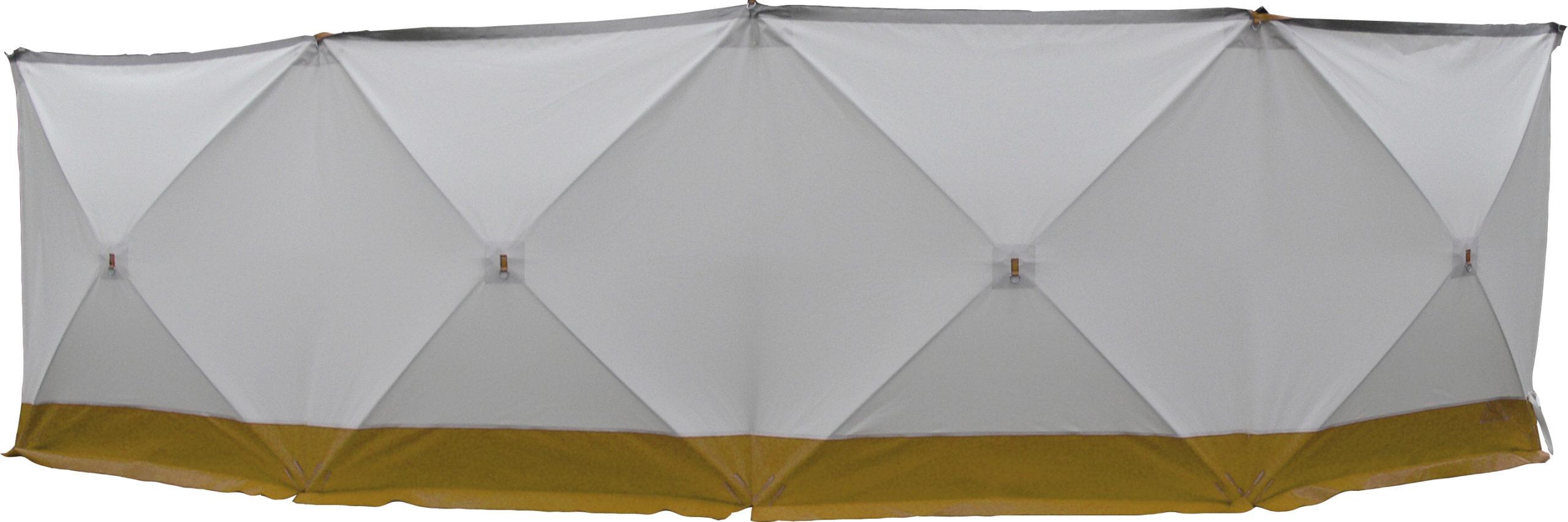 Unfallsichtschutzwand Gelb-Weiss
